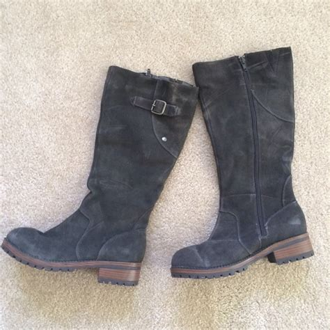 57 merona boots grey suede boots from