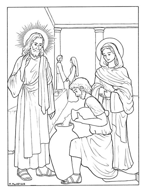luminous mysteries coloring pages coloring coloring pages