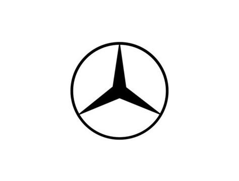 mercedes logo black on circular logos logo design love