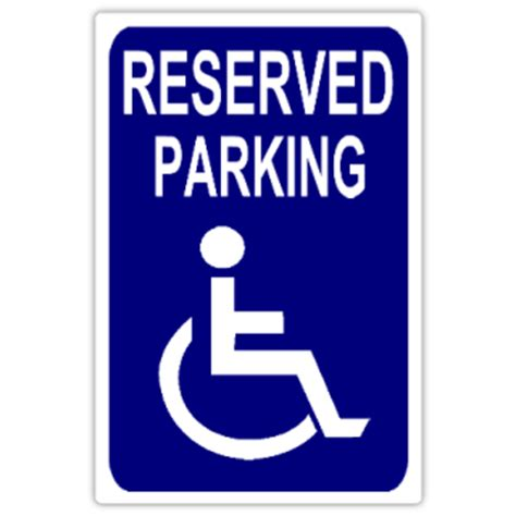 reserved parking 108 handicap parking sign templates