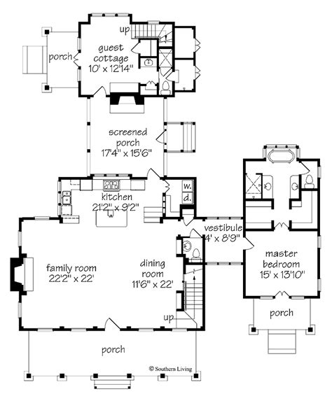 southern living plans floor plan southern living cottage of the year southern