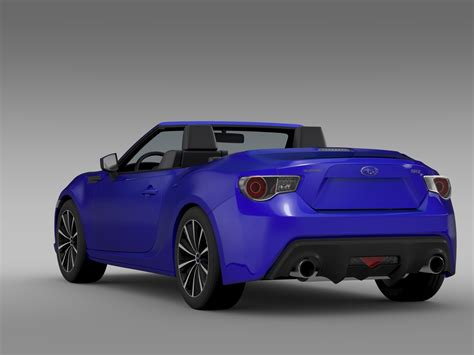 subaru sports car brz 2015 subaru brz zc6 cabrio 2015 3d model flatpyramid