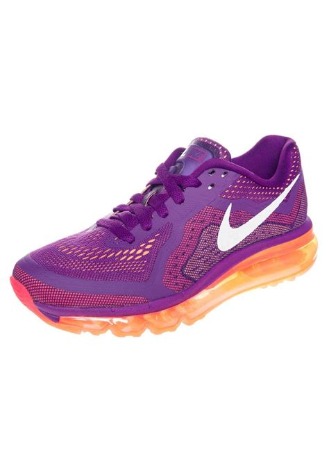 running shoes purple nike performance air max 2014 cushioned running shoes