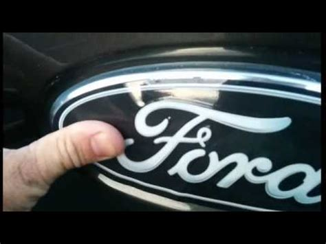 ford emblem overlay installation instructions youtube