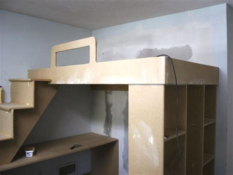 how to build a loft bed with a desk underneath best