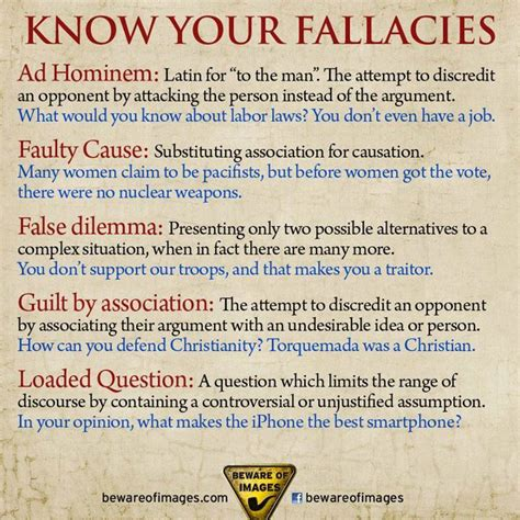 exle of logical fallacy logical fallacies ha tea n danger