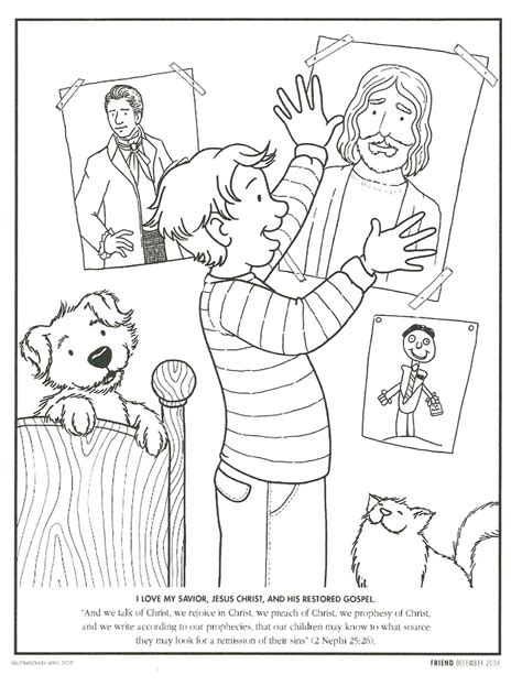 coloring pages for lds primary lessons happy clean living primary 2 lesson 5