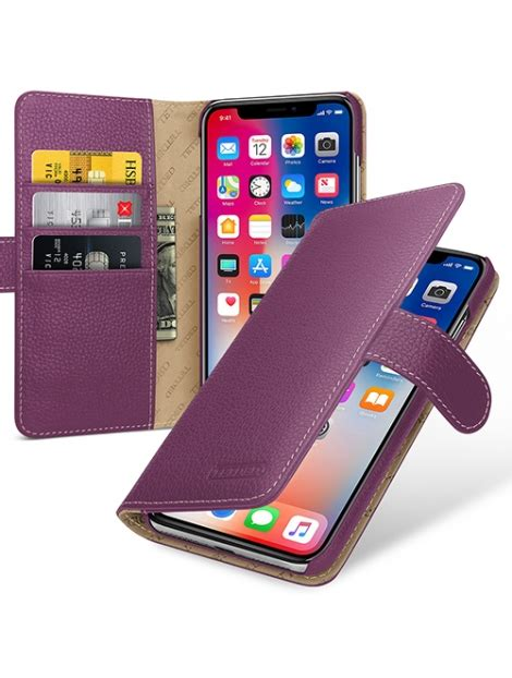 tetded premium leather case  apple iphone   gerzat lc purple tetded limited