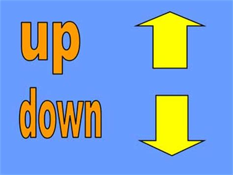imagenes de up and down beginning esl lesson opposites