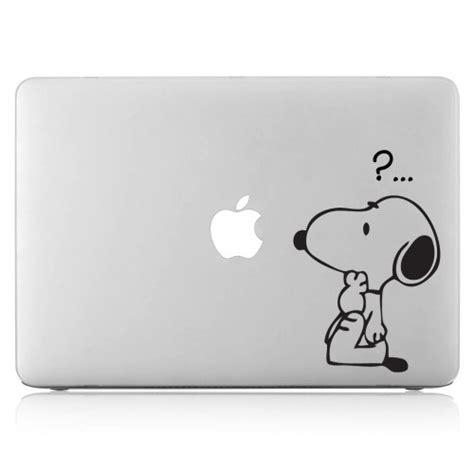 Apple Aufkleber Laptop by Snoopy Question Laptop Macbook Vinyl Decal Sticker