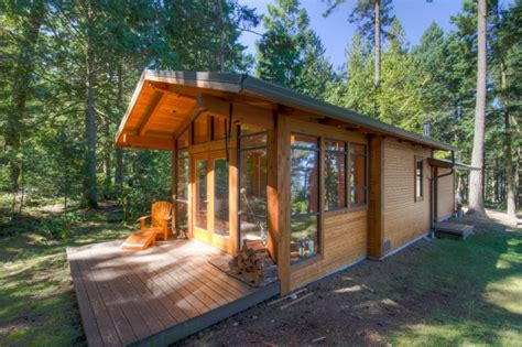 a handcrafted rustic guest cabin dotter solfjeld small vacation home plans for hunting or cing ideas