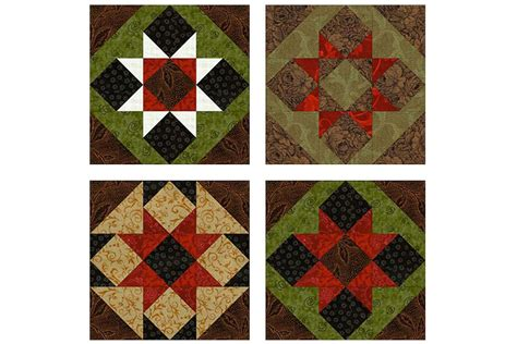 Patchwork Block Patterns - sawtooth patchwork quilt block pattern