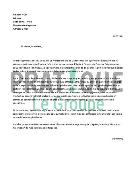 Lettre De Motivation Stage Industrie Pharmaceutique lettre de motivation pour un emploi de visiteur m 233 dical