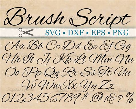 Wedding Font Brush by Brush Script Calligraphy Font Monogram Svg Dxf Eps Png