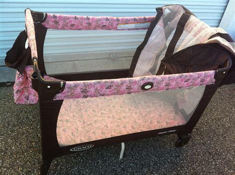 pink and brown graco pack n play with changing table brown and pink graco pack and play playpen central ottawa