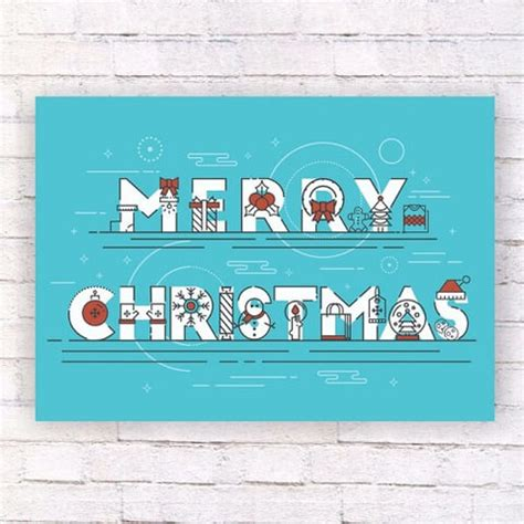 merry christmas wall poster template  printable papercraft templates