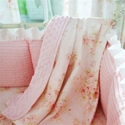 toddler bed blanket shabby chenille crib blanket carousel designs