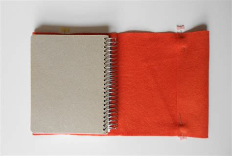 How To Make A Book Cover With A Paper Bag - makeover a notebook with an embroidered felt cover