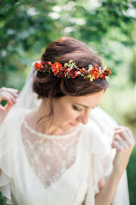 how to create a flower wreath hair piece my view on fashinating fall flower crown fall headband orange hair wreath