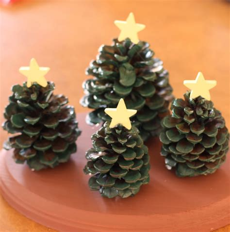 crafts with pine cones craft pine cone tree decoration