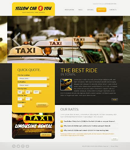 Taxi Website Template 38436 Taxi Website Template