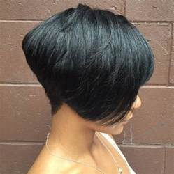one side stack sassy bob bllack hair 60 showiest bob haircuts for black women