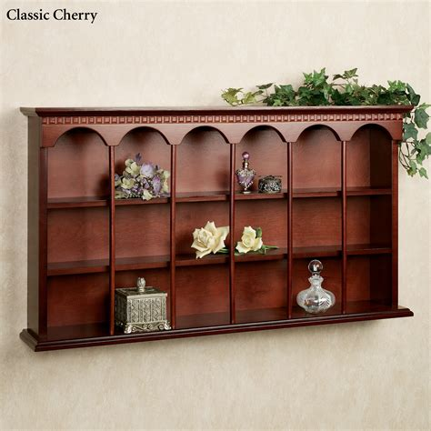 curio display wall cabinet mackenzie wooden wall curio display shelf for the home