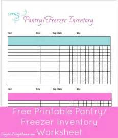 how to inventory your pantry and freezer once a month
