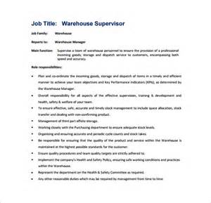 supervisor cover letter exle it description real estate description