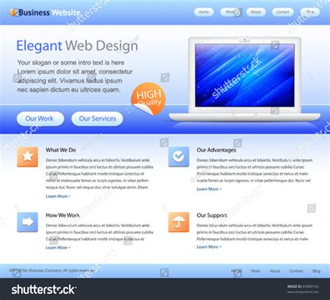 web design business from home blue business website template home page design with