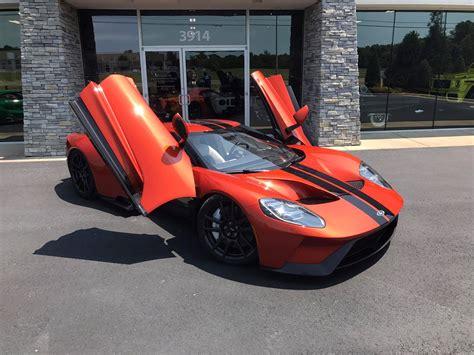 orange cars 2017 two unique 2017 ford gts delivered beryllium orange