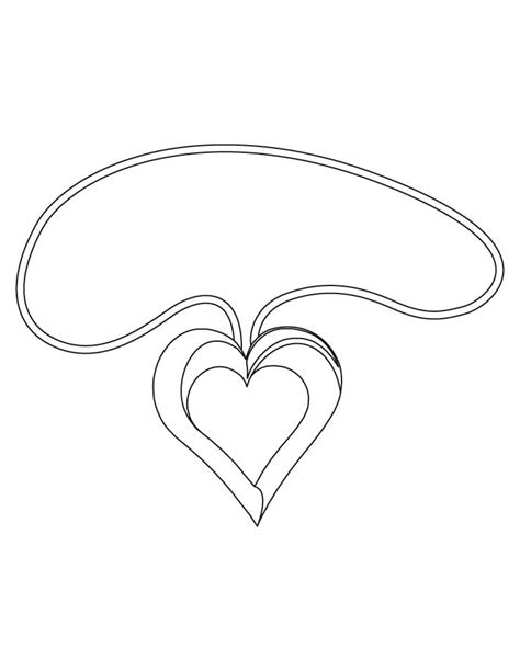 Free Printable Heart Shapes Coloring Home With The Pearl Earring Coloring Page Printable