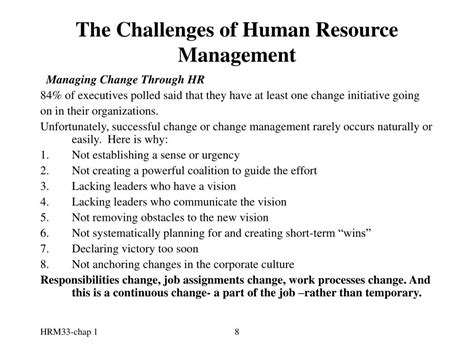 challenges human resource management ppt the challenges of human resource management