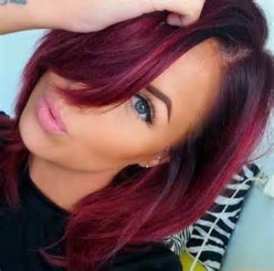 maroon color hair 20 burgundy hair colors and styles