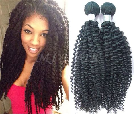 weave twists kinky curly hair weave brazilian hair extension remy