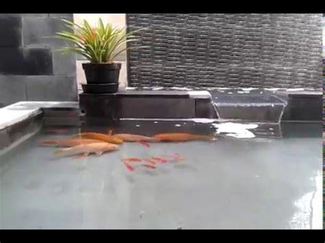 taman kolam ikan minimalis batu alam youtube