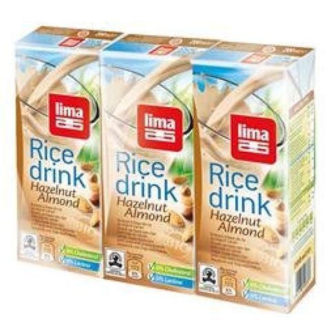 200 Milliliter Of Rice Lima Rice Drink Hazelnut Almond 200ml X 3