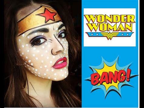 wondering how to make up wonder woman comic makeup pixiemex youtube