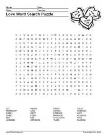 Free printable love word search puzzle