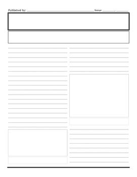 Newspaper Template Printable By Leigh Fine Teachers Pay Teachers Newspaper Template To Print