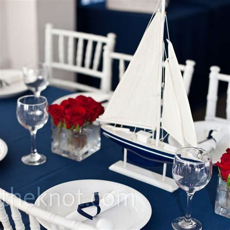 Nautical Table Decor by Nautical Wedding Centerpieces