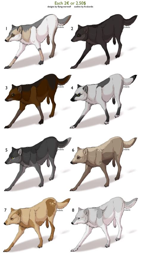 what color are wolves wolf adopts closed by nathalienova on deviantart