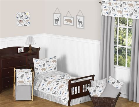 Woodland Creatures Baby Bedding by Sweet Jojo Designs 5pc Toddler Bedding Set For The