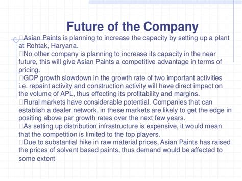 In Asian Paints For Mba Marketing by Asian Paints Marketing