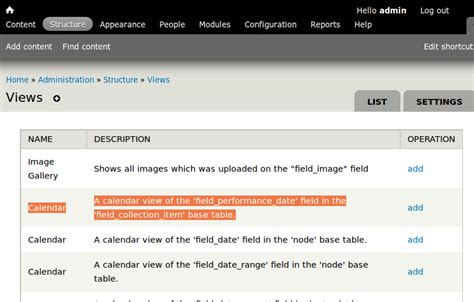 Calendar Contextual Images Calendar View Of A Field Collections And Contextual