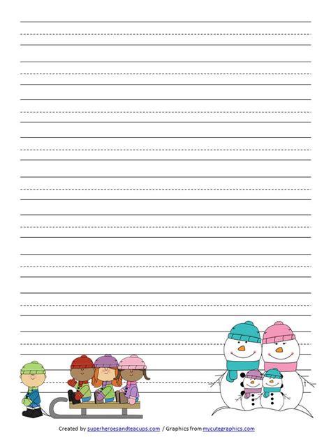 printable writing paper for winter winter handwriting paper free printable