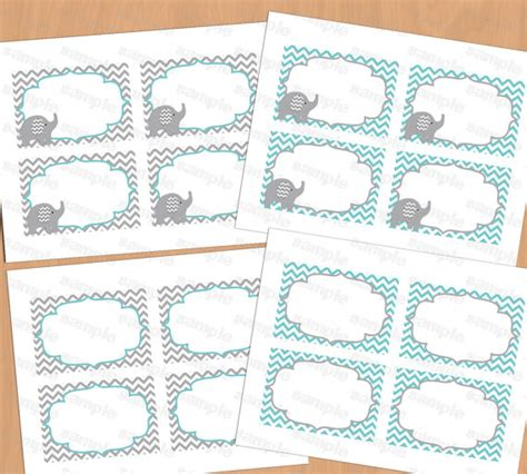 printable elephant baby shower decorations food labels baby