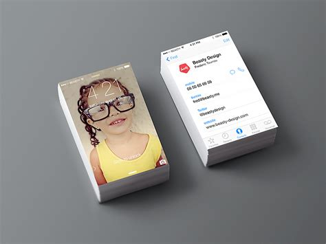 business card iphone template iphone business card