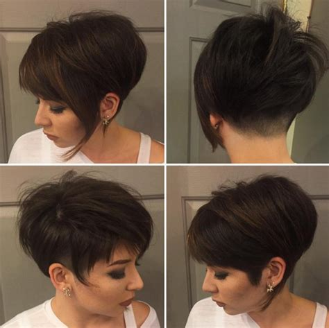 short pixie haircuts with asymmetrical bangs front and side view short asymmetrical pixie cuts hairstyles gallery