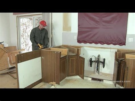 How To Remove A Kitchen Cabinet How To Remove Kitchen Cabinets Youtube Bathroom And